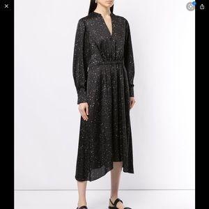 Vince Constellation Print Poet Dress Size S